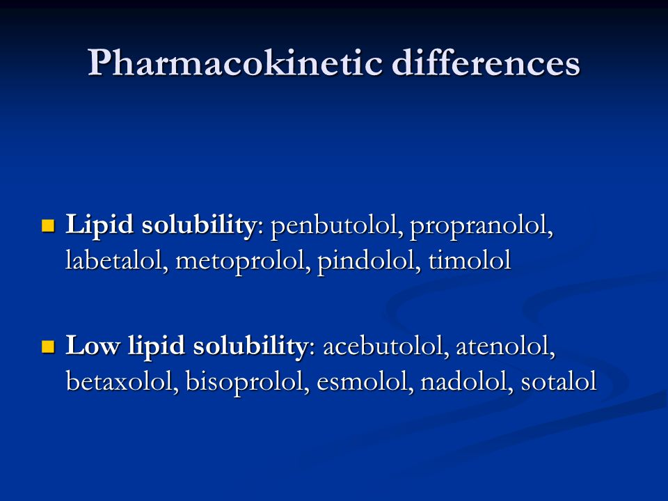 Pharmacokinetic differences