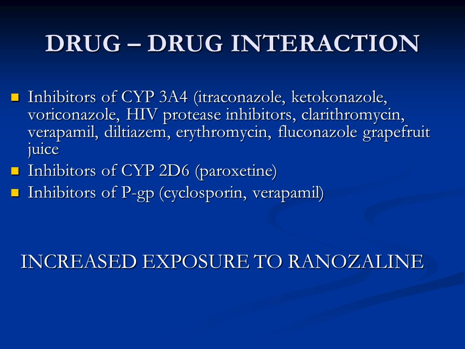 DRUG – DRUG INTERACTION