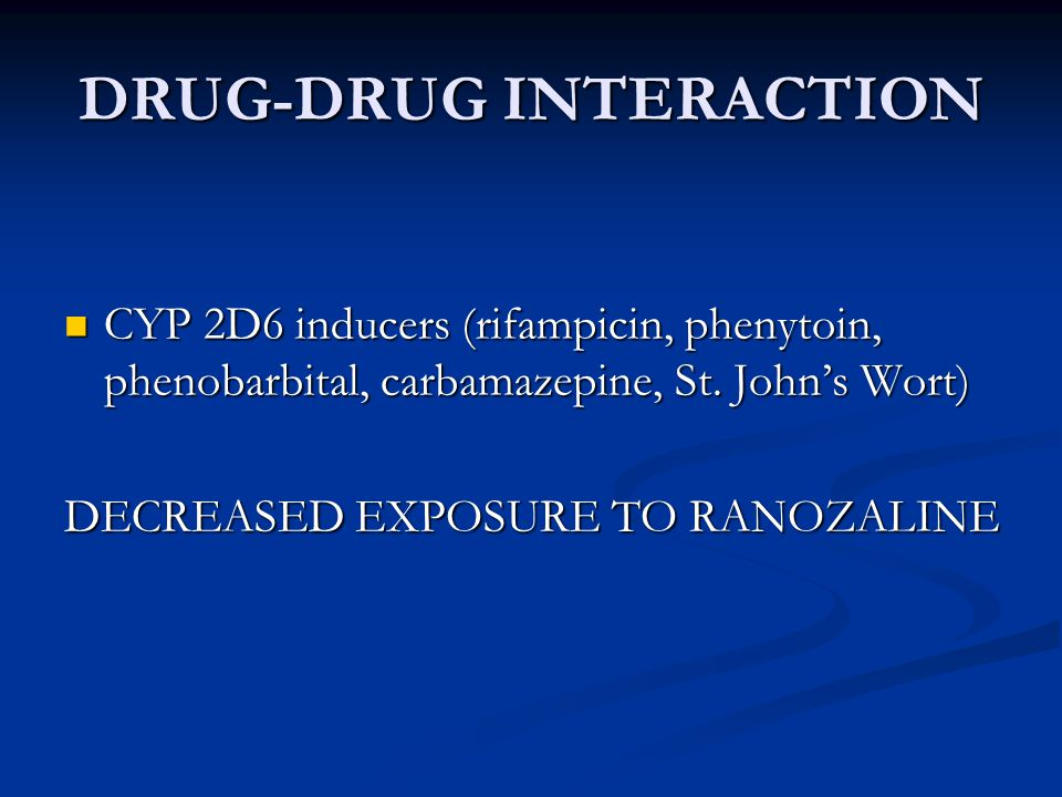 DRUG-DRUG INTERACTION