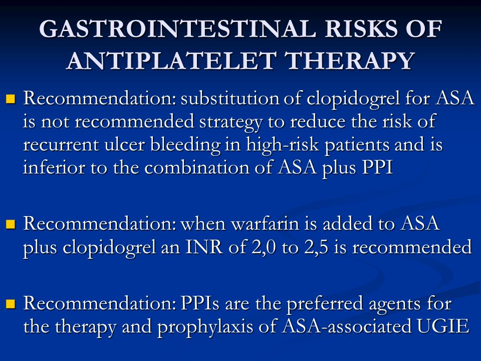 GASTROINTESTINAL RISKS OF ANTIPLATELET THERAPY