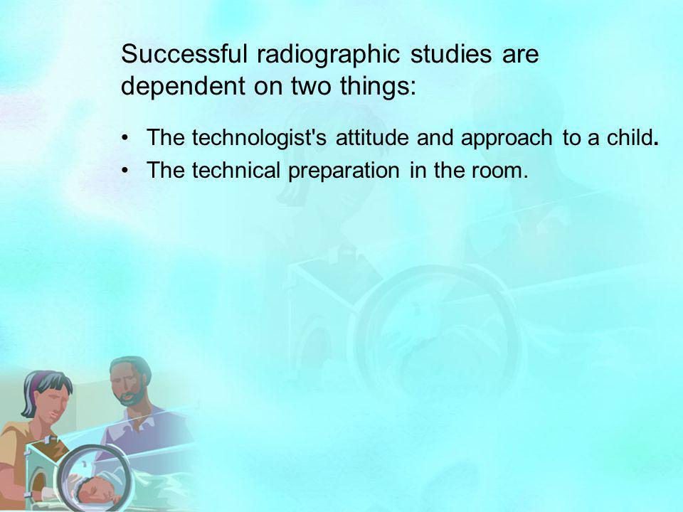 Successful radiographic studies are dependent on two things: