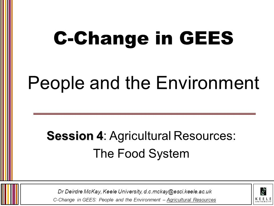 C-Change in GEES People and the Environment