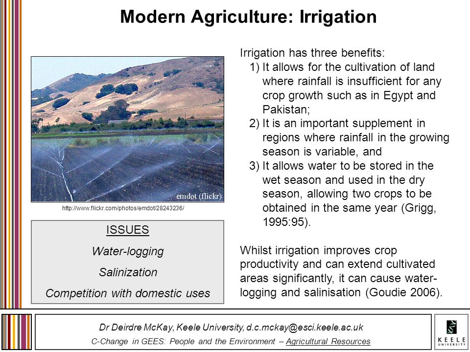 Modern Agriculture: Irrigation