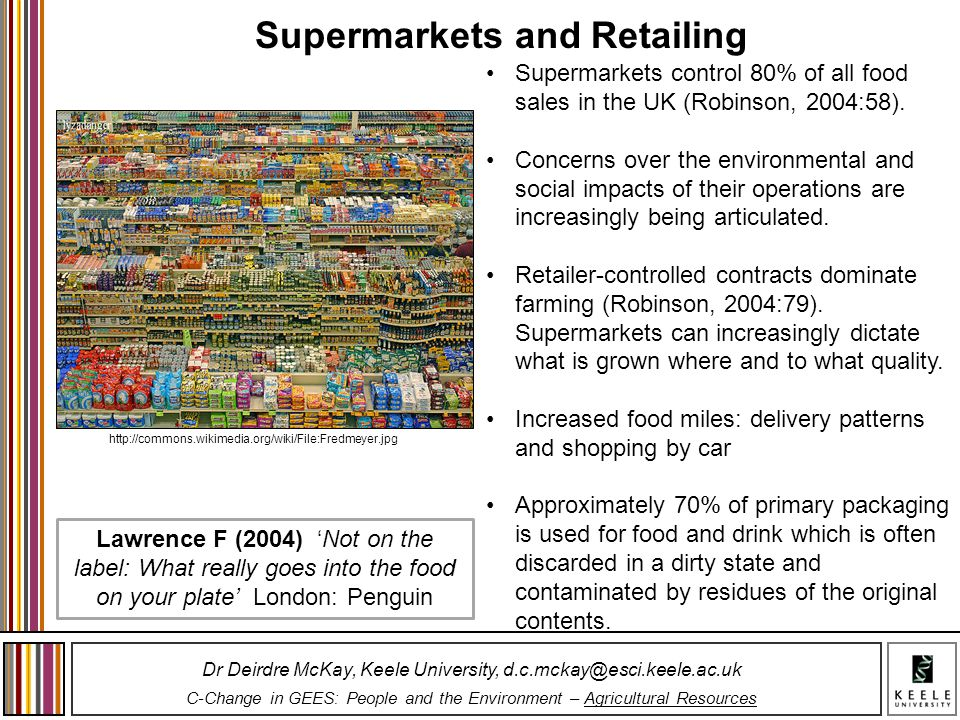 Supermarkets and Retailing