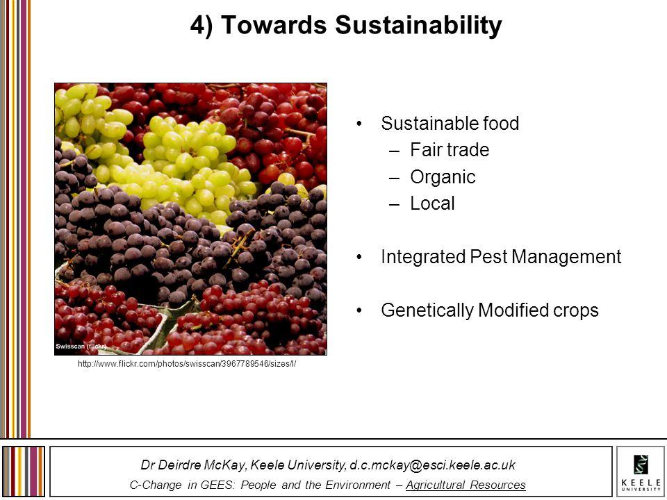 4) Towards Sustainability