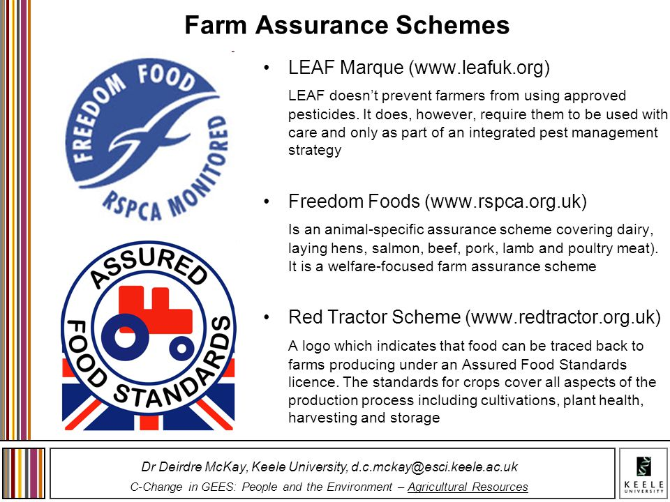 Farm Assurance Schemes