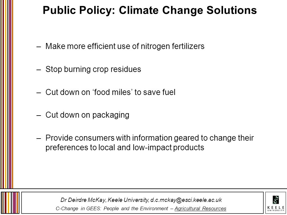 Public Policy: Climate Change Solutions