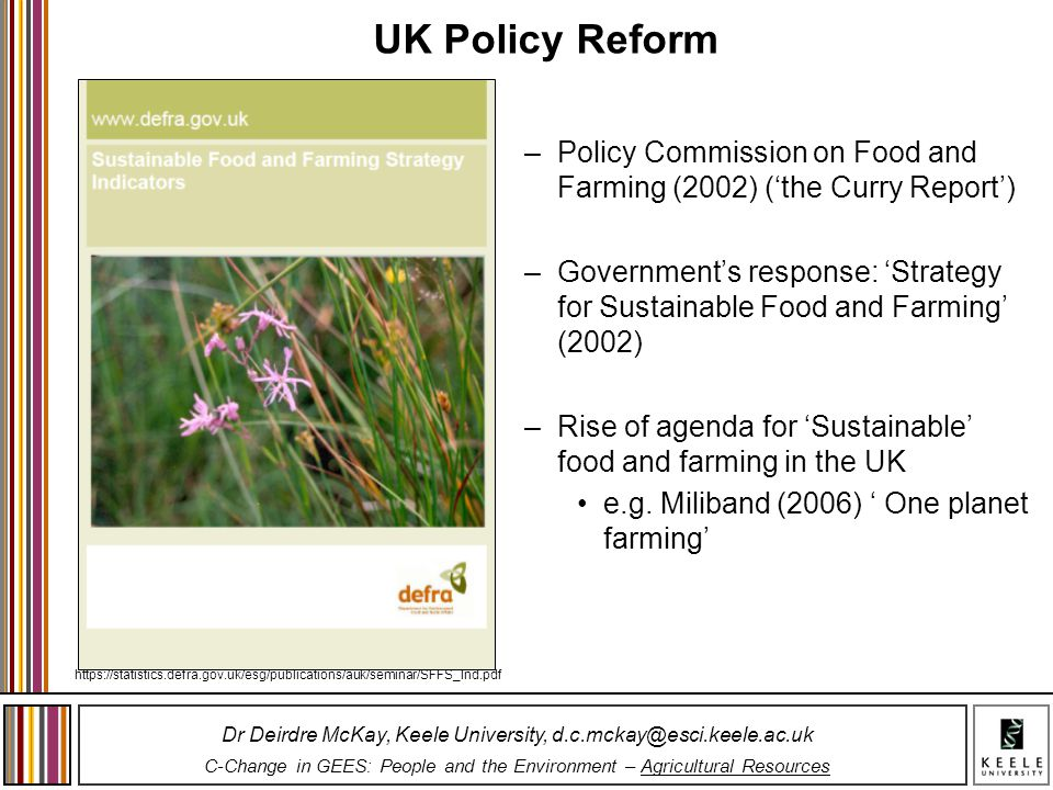 UK Policy Reform Policy Commission on Food and Farming (2002) ('the Curry Report')