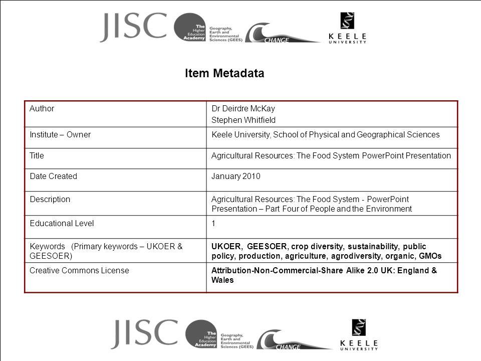 Item Metadata Author Dr Deirdre McKay Stephen Whitfield