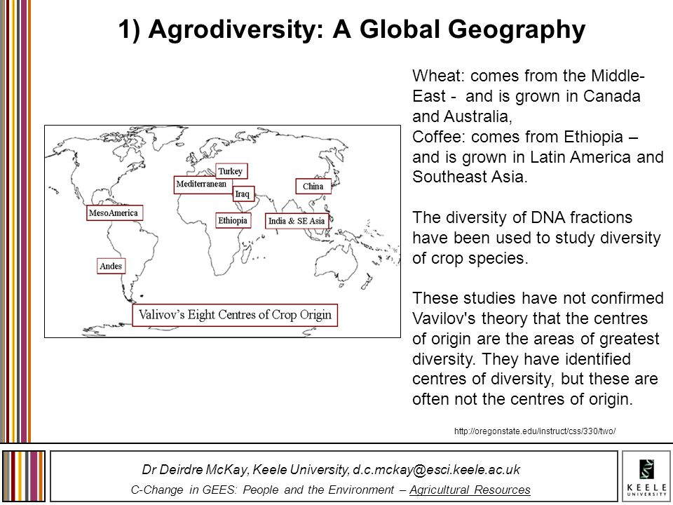 1) Agrodiversity: A Global Geography