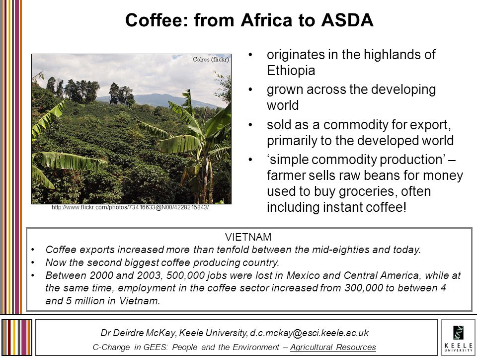 Coffee: from Africa to ASDA