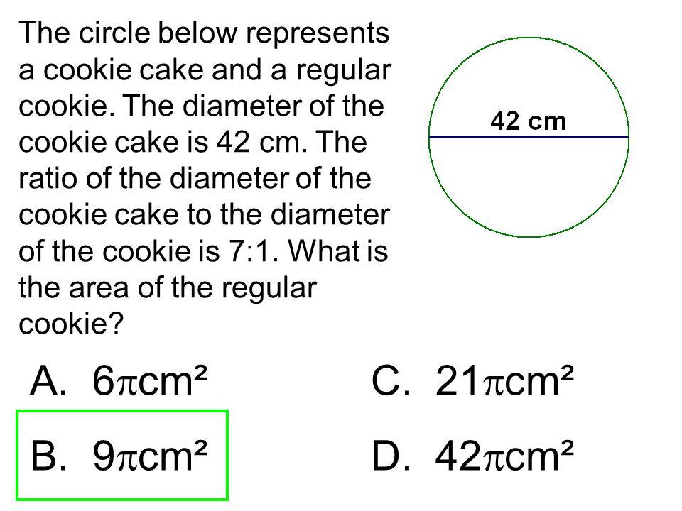 A. 6cm² C. 21cm² B. 9cm² D. 42cm²
