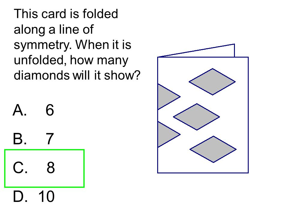 This card is folded along a line of symmetry