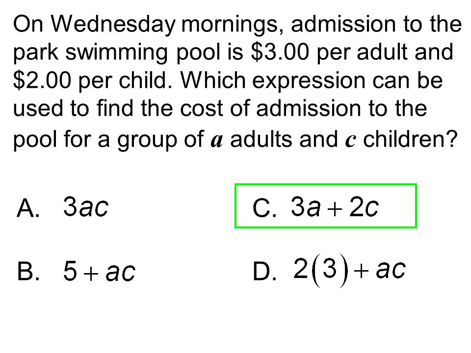 On Wednesday mornings, admission to the park swimming pool is $3