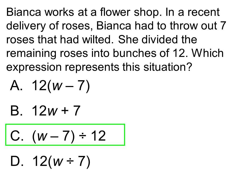 Bianca works at a flower shop