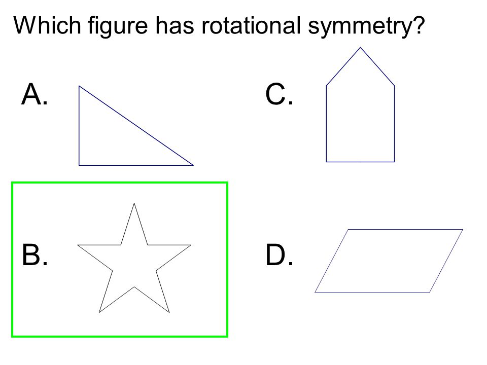 Which figure has rotational symmetry
