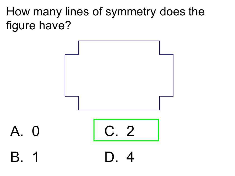 How many lines of symmetry does the figure have