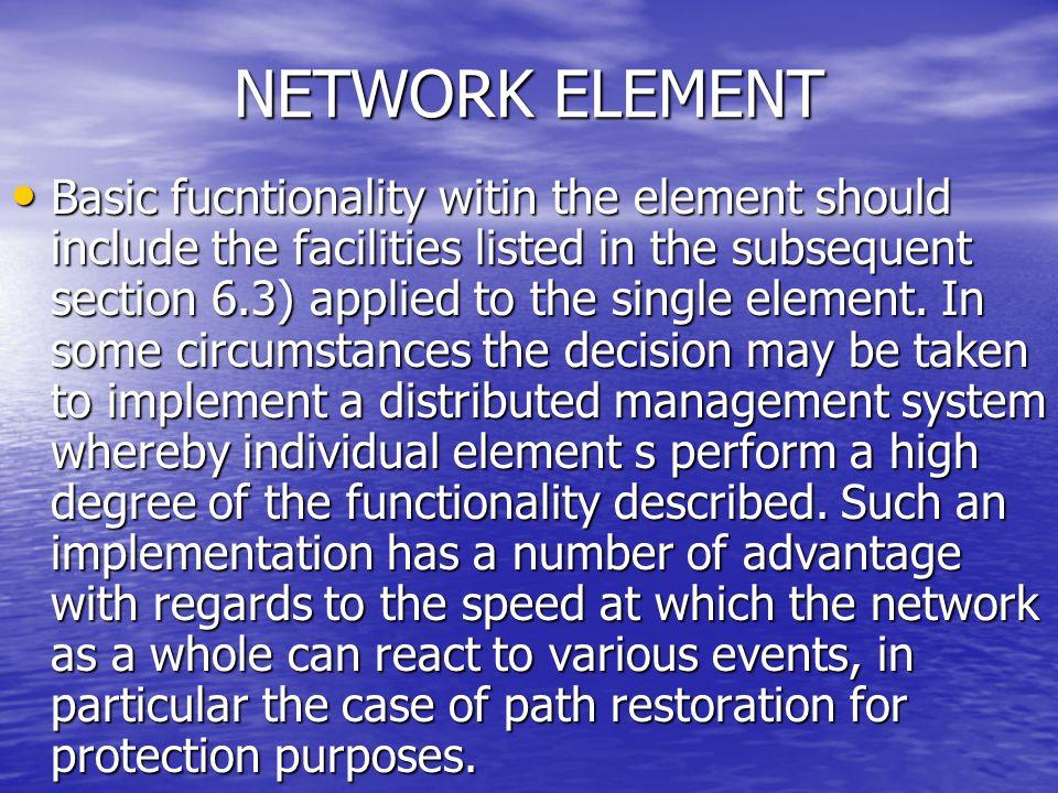 NETWORK ELEMENT