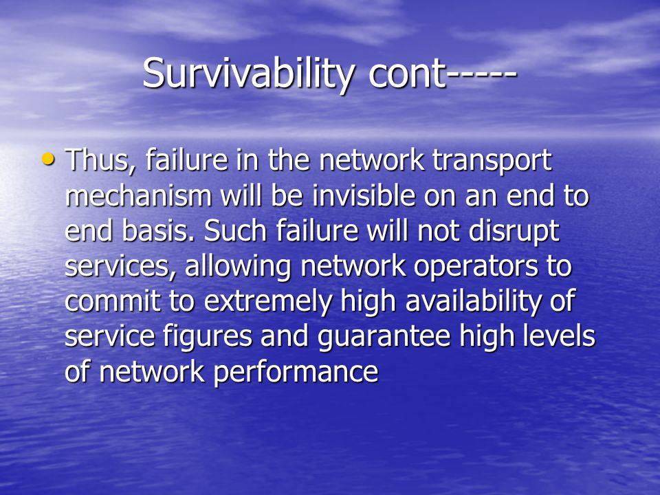 Survivability cont-----