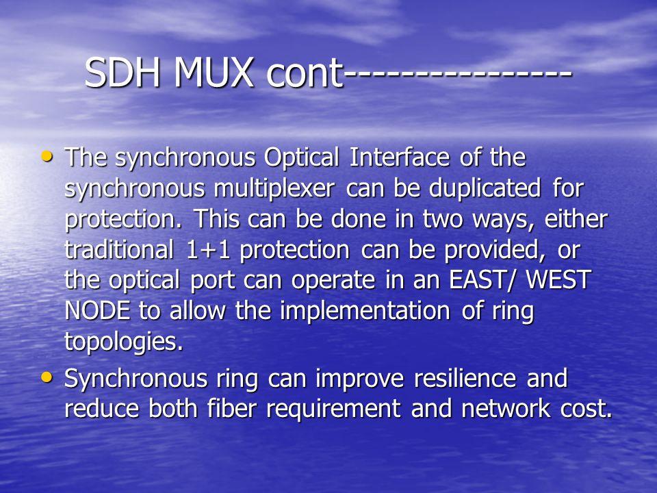 SDH MUX cont----------------