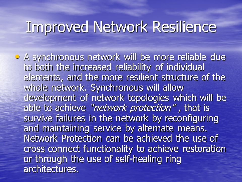 Improved Network Resilience