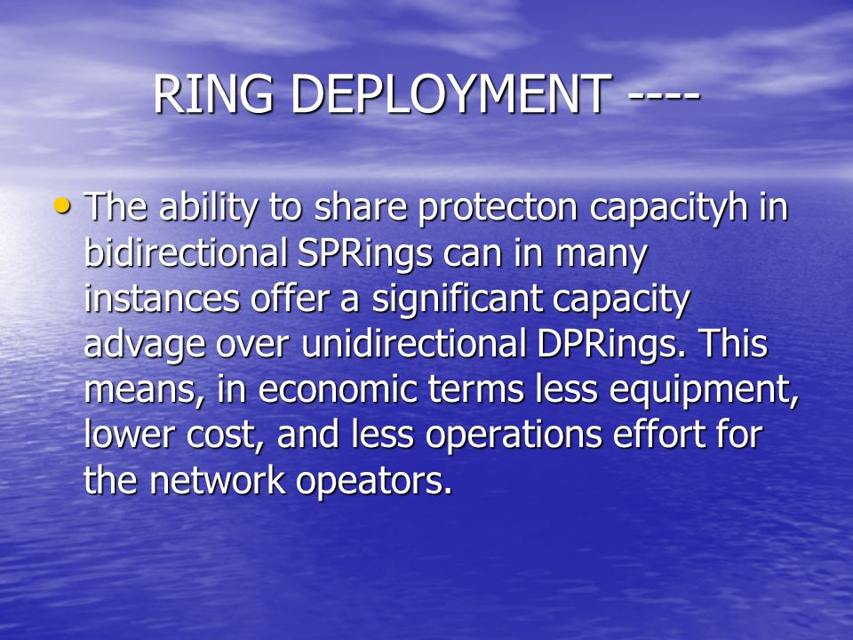 RING DEPLOYMENT ----