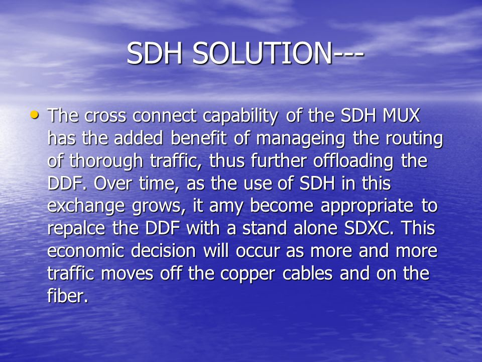 SDH SOLUTION---