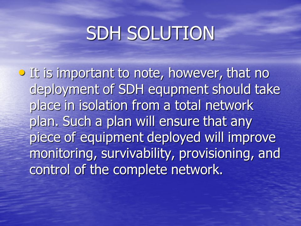 SDH SOLUTION