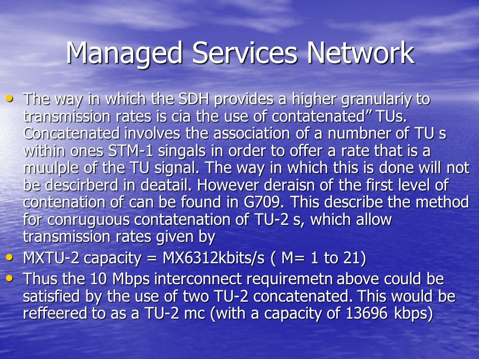 Managed Services Network