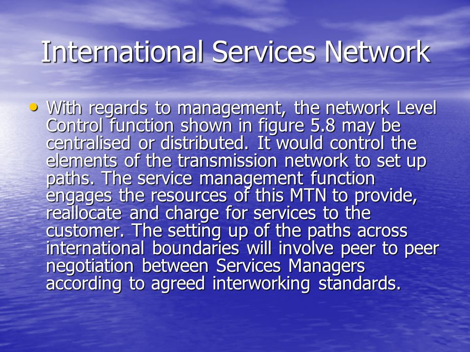 International Services Network