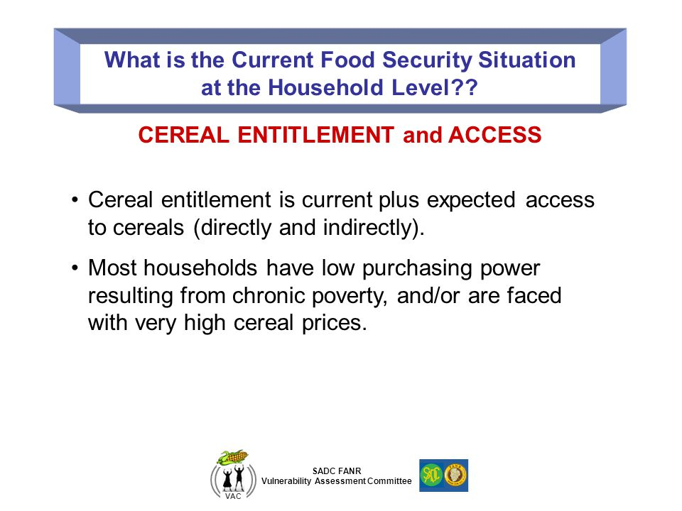 What is the Current Food Security Situation at the Household Level