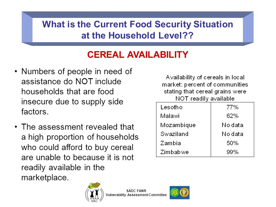 What is the Current Food Security Situation