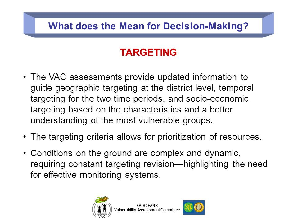 What does the Mean for Decision-Making