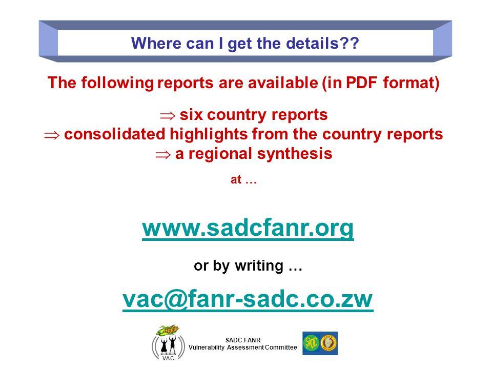 www.sadcfanr.org vac@fanr-sadc.co.zw