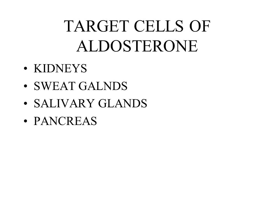 TARGET CELLS OF ALDOSTERONE