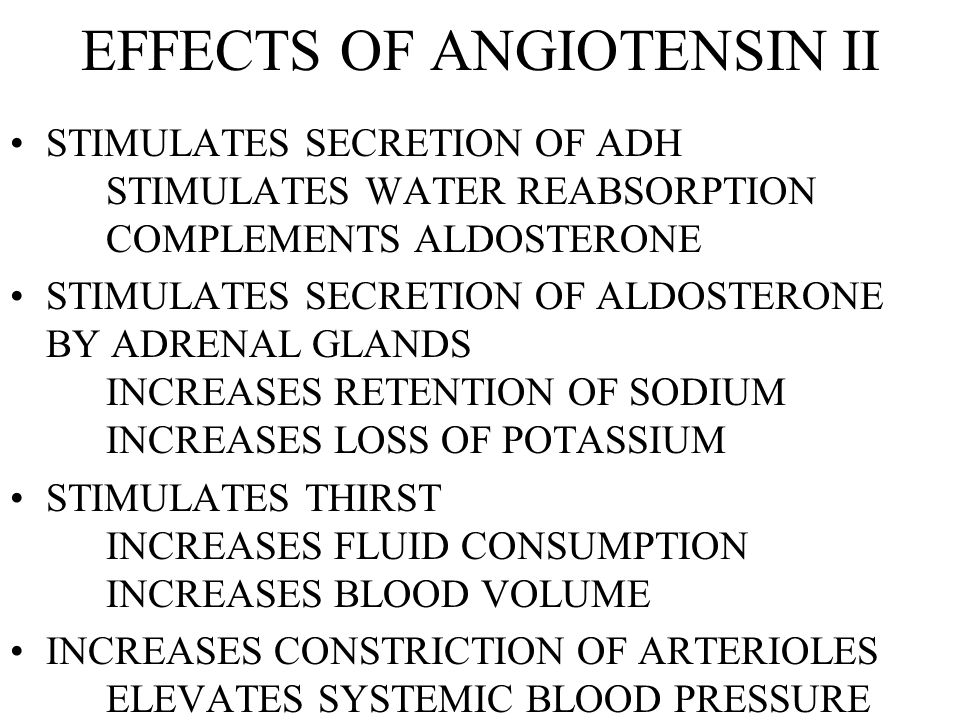 EFFECTS OF ANGIOTENSIN II