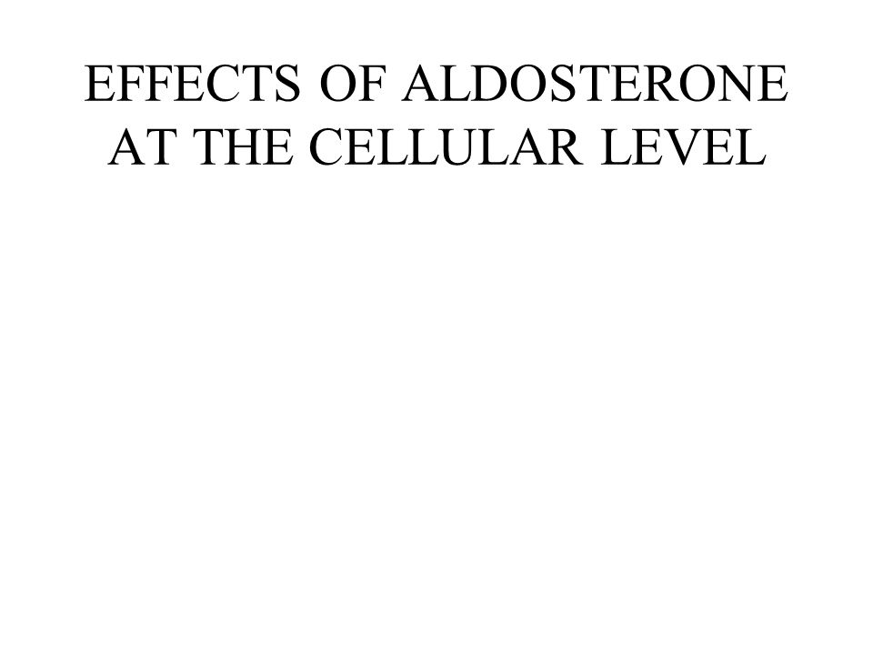 EFFECTS OF ALDOSTERONE AT THE CELLULAR LEVEL