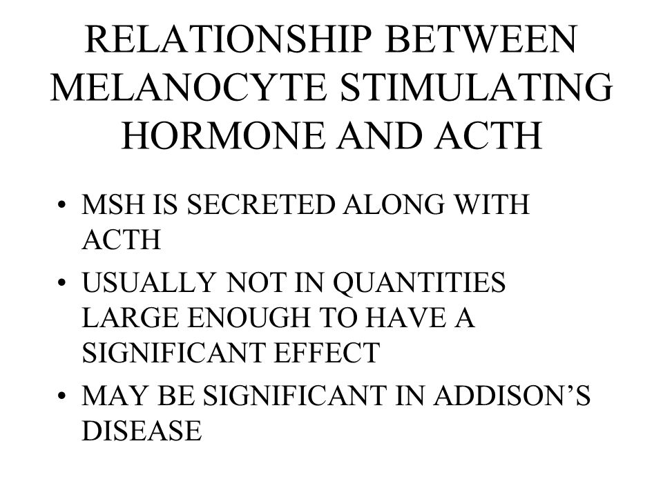 relationship between acth and adh