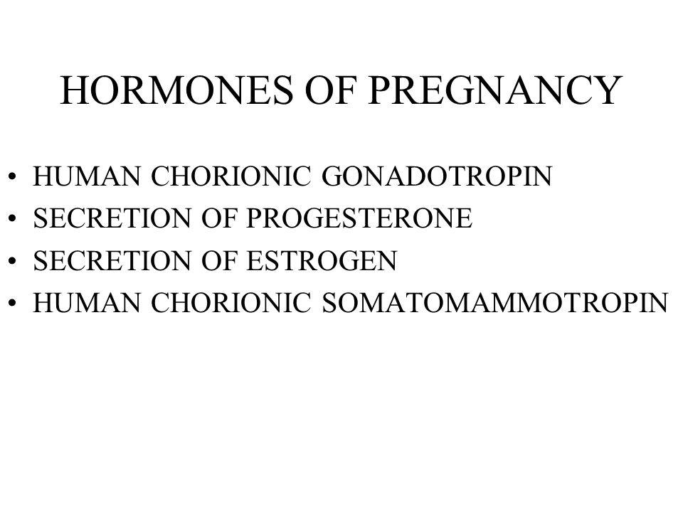 HORMONES OF PREGNANCY HUMAN CHORIONIC GONADOTROPIN