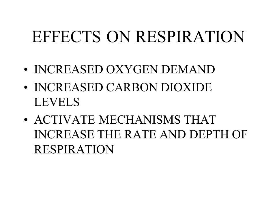 EFFECTS ON RESPIRATION