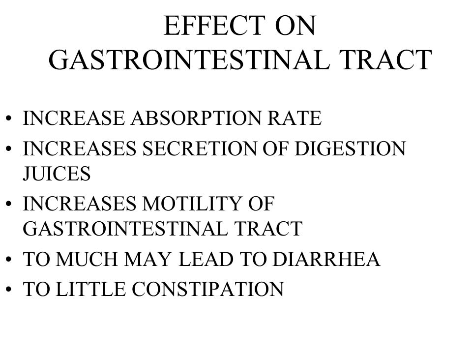EFFECT ON GASTROINTESTINAL TRACT