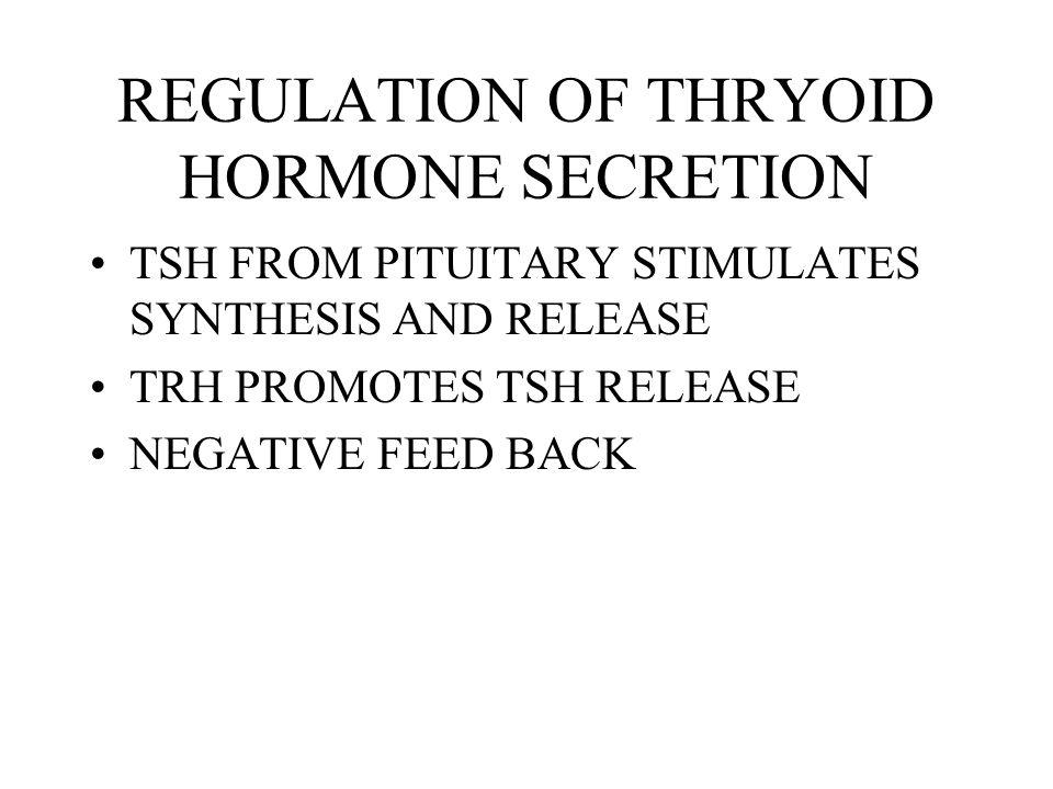 REGULATION OF THRYOID HORMONE SECRETION