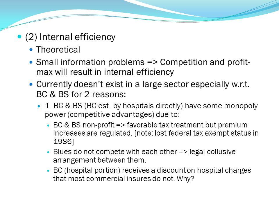 (2) Internal efficiency