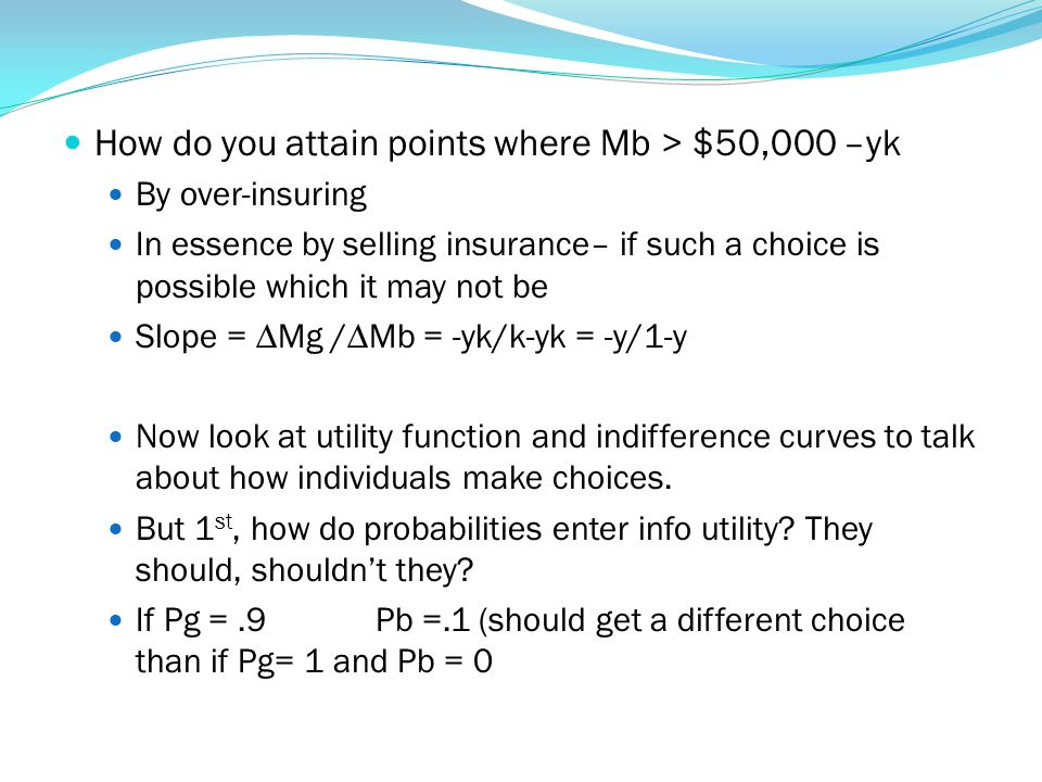 How do you attain points where Mb > $50,000 –yk
