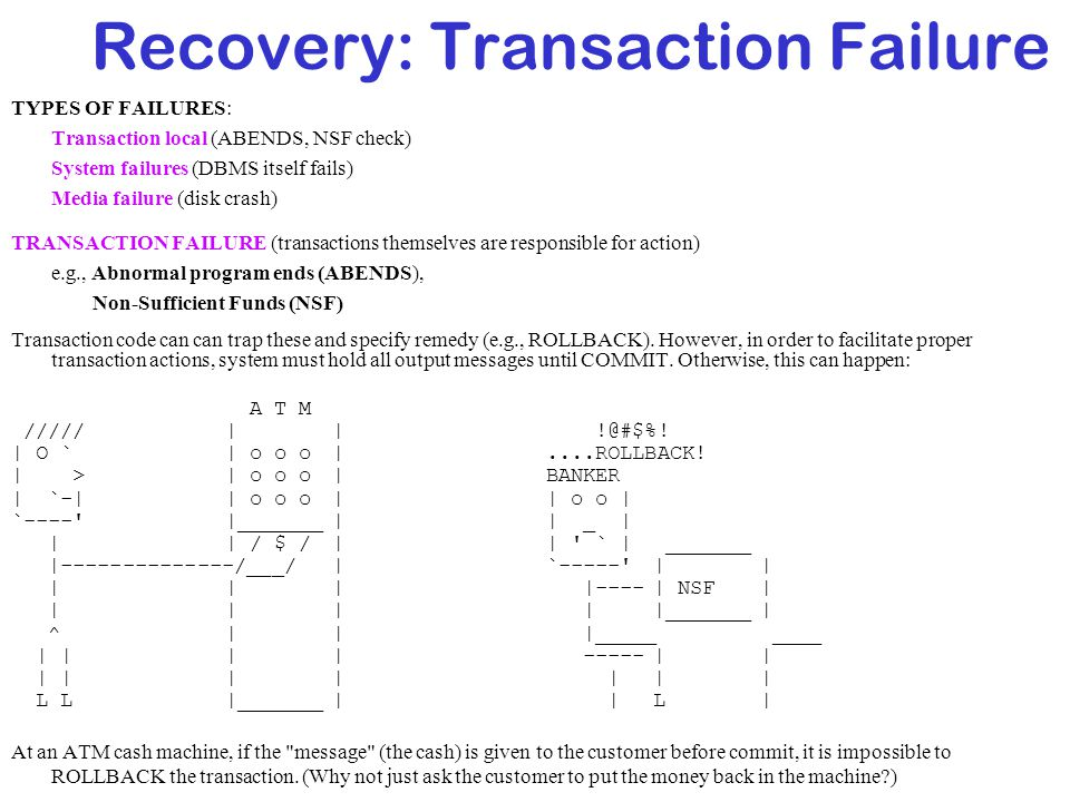 Recovery: Transaction Failure