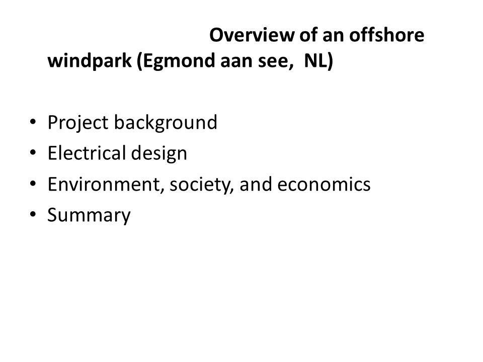 Overview of an offshore windpark (Egmond aan see, NL)