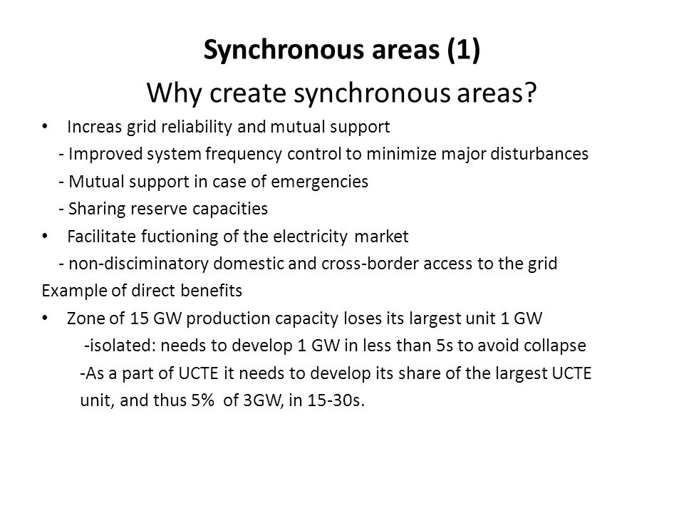 Why create synchronous areas