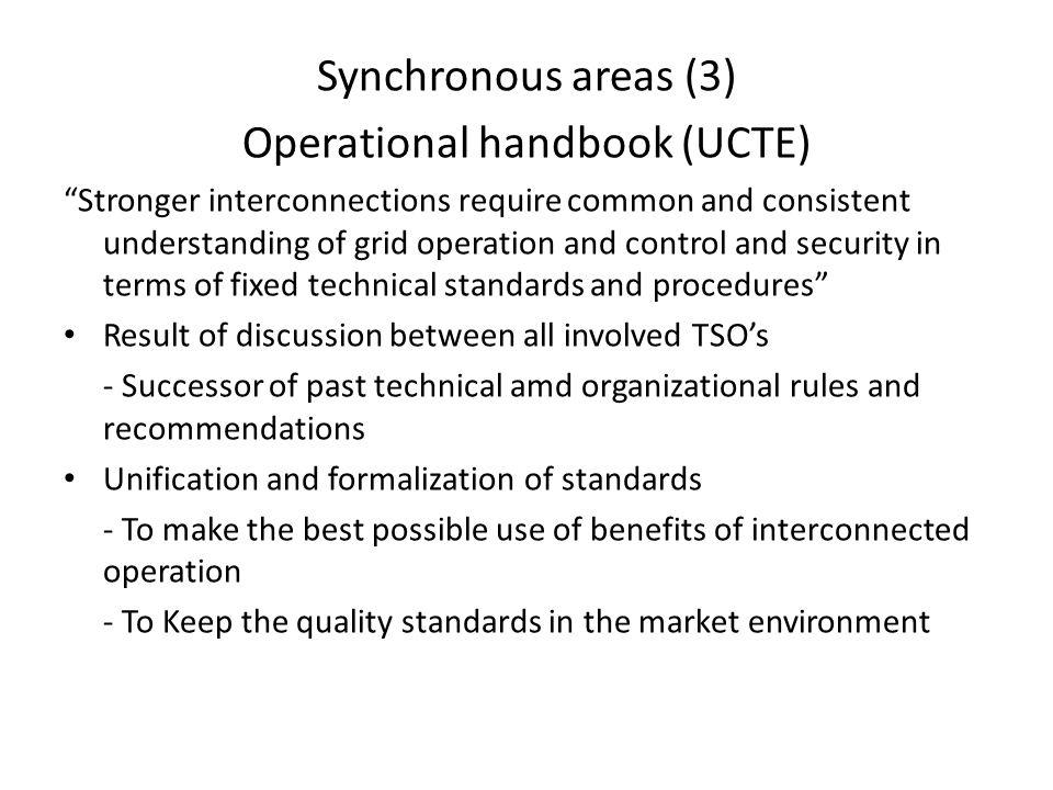 Operational handbook (UCTE)