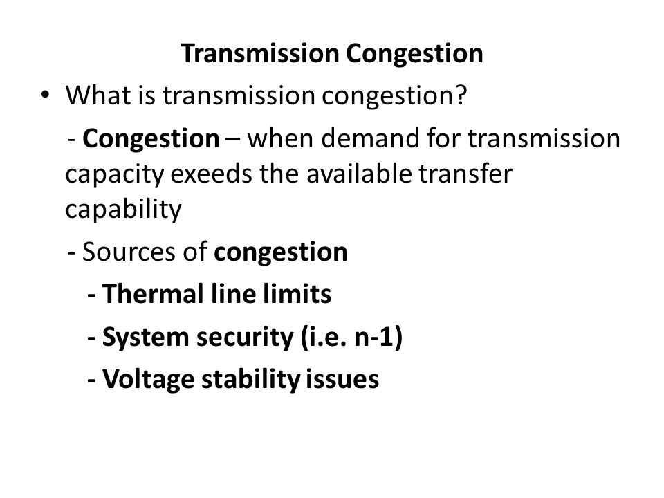 Transmission Congestion