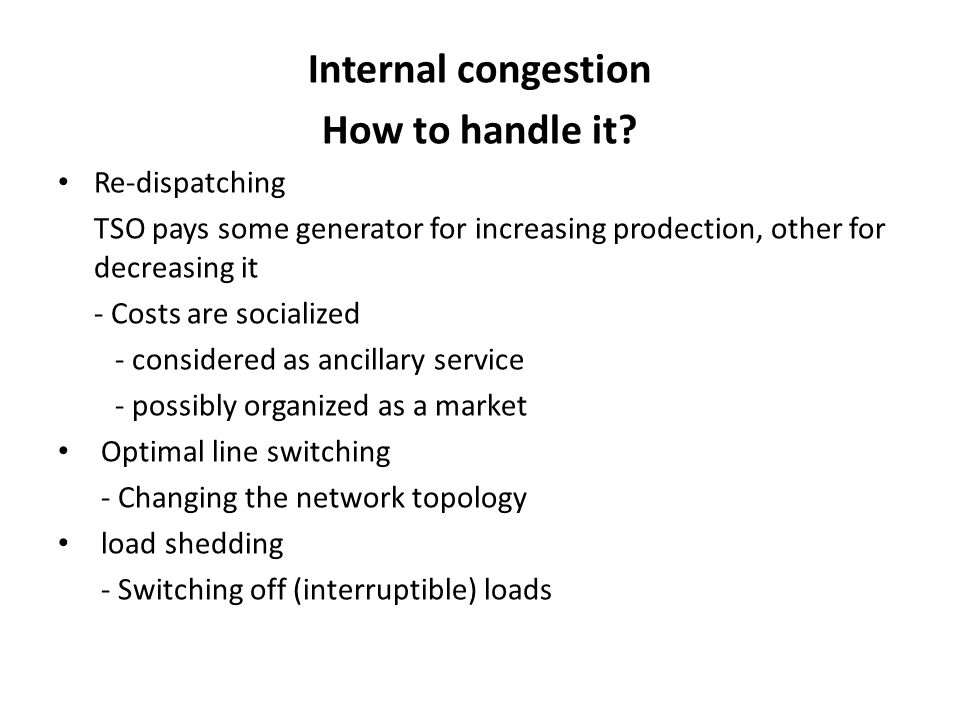 Internal congestion How to handle it